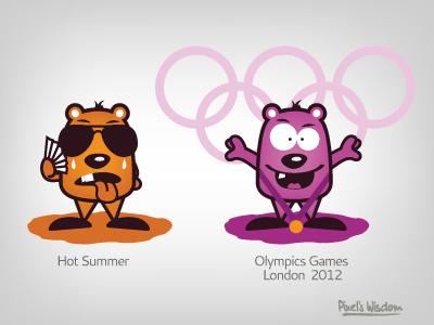 Pixel's Wisdom_1 illustration pixel wisdom vector hot summer olympic games 2012 brohouse