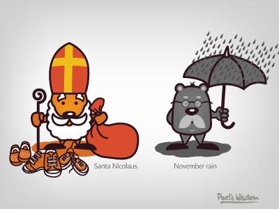 Pixel's Wisdom_7 santa nicolaus november rain brohouse illustrator pixel wisdom character