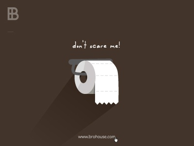 Don't scare me! poop toilet paper brohouse halloween scare