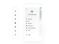 Side Menu PBX Mobile App