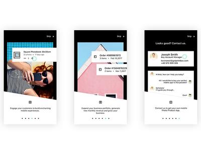 PBX Mobile App Onboarding screens Part II ux ui motion mobile screen login illustration gif animation
