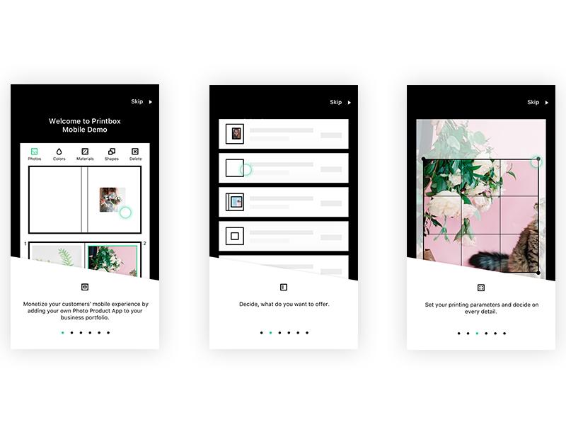 Onboarding screens printbox mobile app