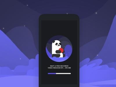 Video Panda Mobile App panda animation illustration interactions mobile app ui ux
