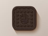 Flat long shadow Oreo flat oreo cookie long shadow ios icon