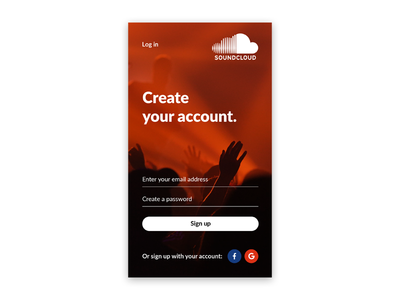 Daily UI 1/100 - Signup Screen design ui dailyui