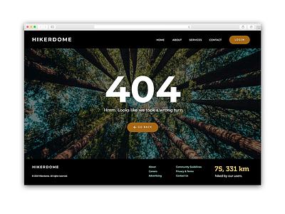 Daily UI 8/100 - 404 Page ui design dailyui