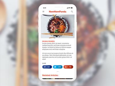 Daily UI 10/100 - Social Sharing ui design dailyui