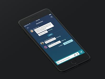 Daily UI 13/100 - Direct Messages ui design dailyui
