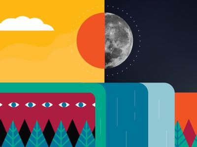 Facebook cover photo moon illustrator facebook cover design vector art illustration
