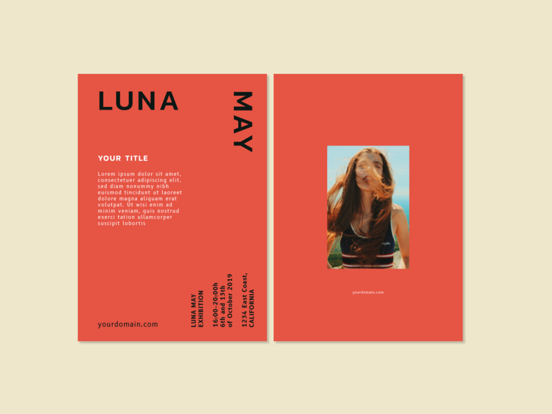 Luna May flyer template by Moonsign on Dribbble
