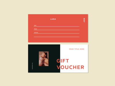 Luna May Gift voucher template