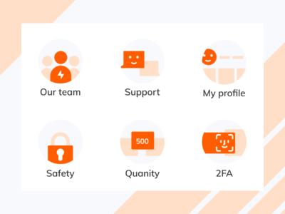 Juicy orange icon set 🧡