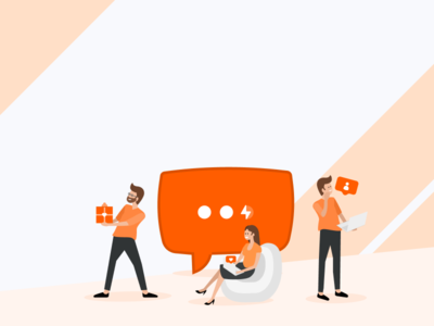 Social media company teamwork 🧡