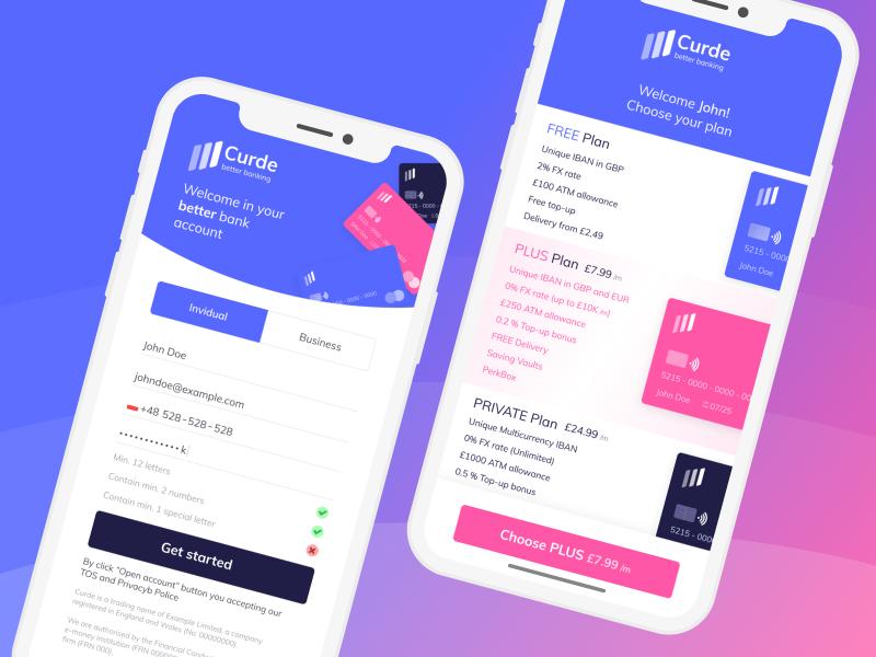 Sign Up to Banking App Concept pricing plans pricing page pricing company design brand design brand website n26 monese revolut banking app banking app design ui ux ui app sign up
