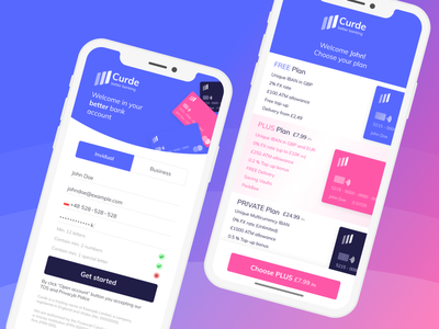 Sign Up to Banking App Concept pricing plans pricing page pricing company design brand design brand website n26 monese revolut banking app banking app design ui ux ui app sign up