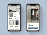 Category & Product Page for Furniture App