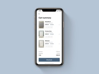 Cart Page for Furniture App