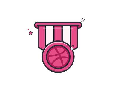 Dribbble playoff submission medal submission playoff idea mule sticker dribbble