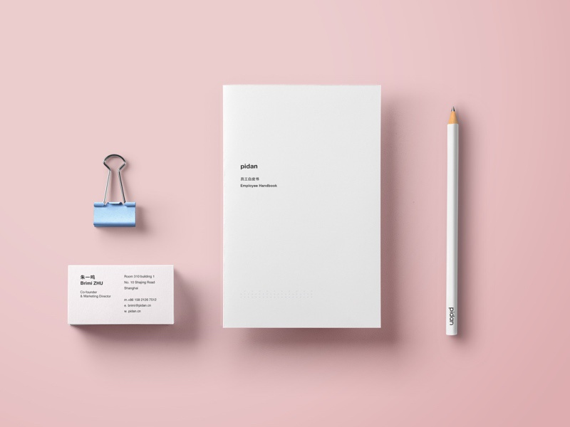 minimal stationery and employee handbook by nothing dribbble
