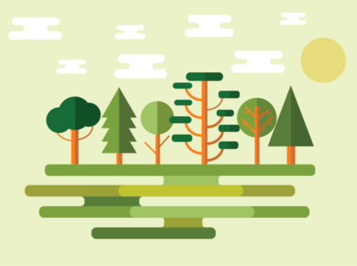 Flat Landscape nature landscape flat design graphic design illustrator illustration design