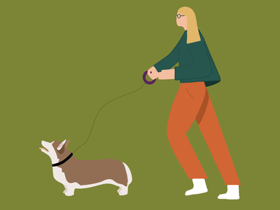Corgi On The Move corgis walking dog dog illustrator graphic design design corgi illustration