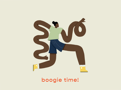 Boogie Time person dance party dancer graphic design illustration illustrator design