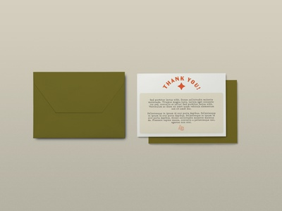 AC Thank You Card western envelope thankyou