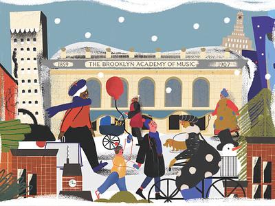 Bam Holiday Card holiday card post card illustration art design illustration