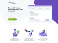 Milestone Motivator Shopify App app typography illustration shopify design website