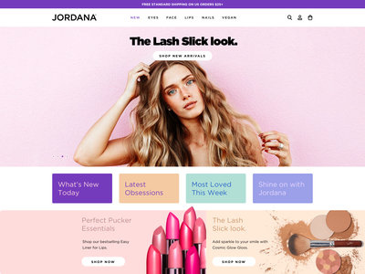 Jordana Cosmetics shopify branding ux website web ui design