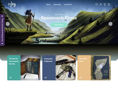 LitJoy Crate Website & Customer Portal illustration shopify website web ux ui design