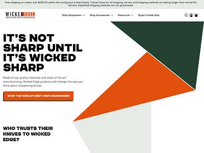 Wicked Edge Website web website shopify ux ui design