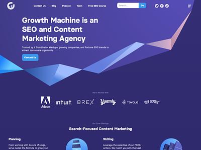 Growth Machine Website illustration branding shopify website web ux ui design