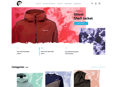 Homeschool Outerwear Homepage branding website web ux ui design