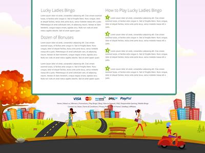 Lucky Ladies Bingo website