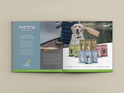 2-page advertisement for Nutrima pets advertising