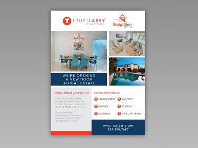 Trust Larry Real Estate Advertisement advertising real estate graphic design