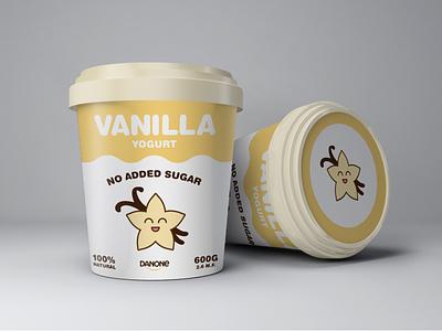 No Sugar Added Vanilla Yogurt yogurt vanilla cute packaging playoffs