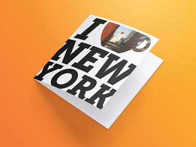 New York Postcard graphic design travel coffee postcard new york