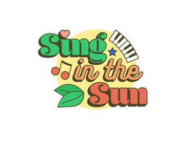 Sing in the Sun Music Festival Logo festival music logo colorful illustration graphic design