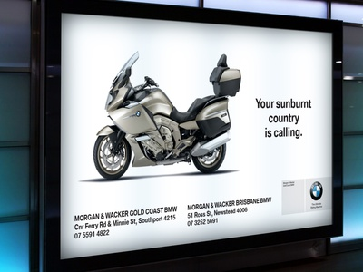Advertising for BMW motorcycles bmw motorcycle advertising