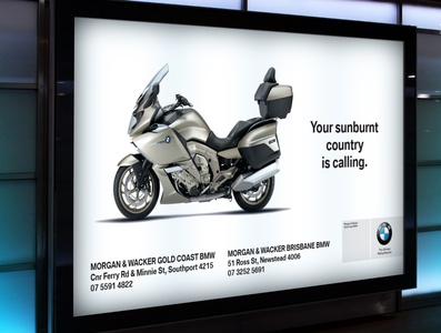 Advertising for BMW motorcycles