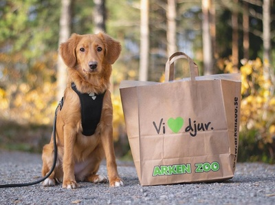 Shopping bag for Swedish pet supply retailer Arken Zoo