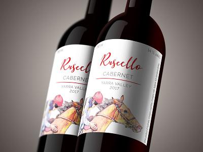 Wine bottle label for Ruscello Cabernet wine label wine label design graphic design