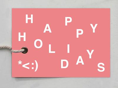 Happy Helvetica Holidays gift tag holidays helvetica typogaphy