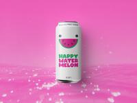 Happy Watermelon Label Design