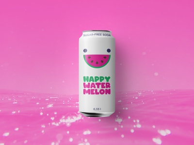 Happy Watermelon Label Design label design packaging graphic design