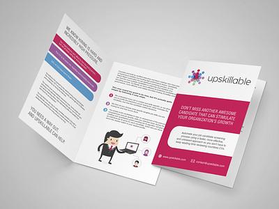 Brochure for Upskillable brochure graphic design