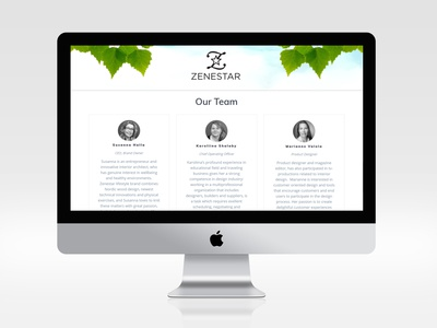 Website and Logo for Finnish wellness company Zenestar