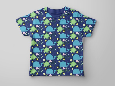 Fabric pattern for children's clothing children colorful illustrator pattern graphic design